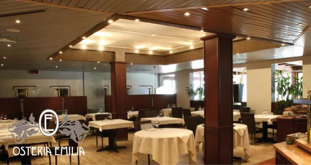 Osteria Emilia restaurant at the Best Western Hotel Modena District.