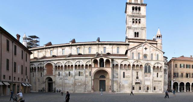 "the majestic duomo di modena which is the setting for ""piazza grande"" the central square of the city of modena"