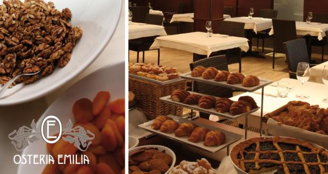 Buffet breakfast at Osteria Emilia at a Best Western Hotel in Campogalliano Modena District